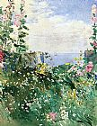 childe hassam Isles of Shoals Garden, Appledore painting