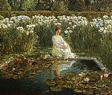 childe hassam Lilies painting
