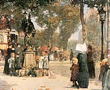 Street paintings - Paris Street Scene by childe hassam