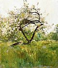 childe hassam Peach Blossoms painting