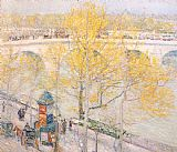 childe hassam Pont Royal Paris painting