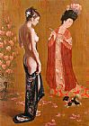 Guan zeju Rising beauty painting