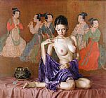 Oriental paintings - gzj25 by Guan zeju
