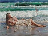 Guan zeju nude on the beach painting