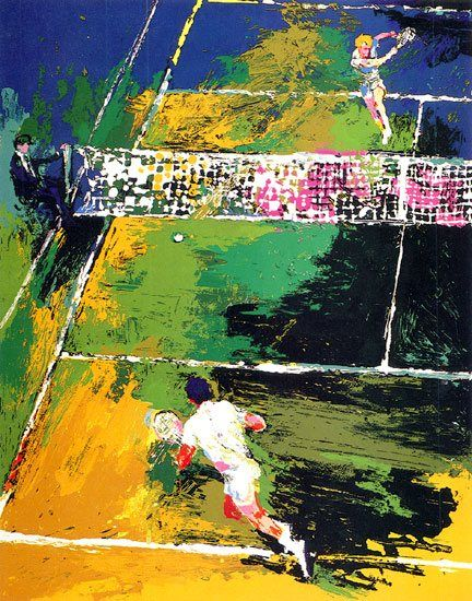 Leroy Neiman Blood Tennis
