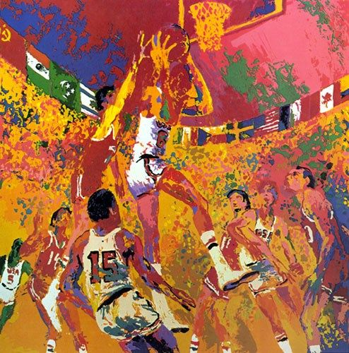 Leroy Neiman Olympic Basketball