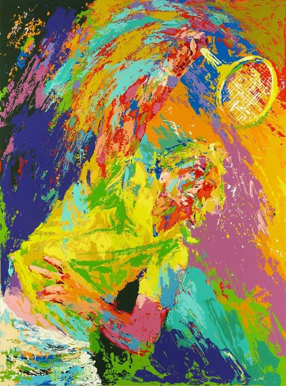 Leroy Neiman Power Serve