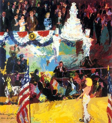 Leroy Neiman President's Birthday Party