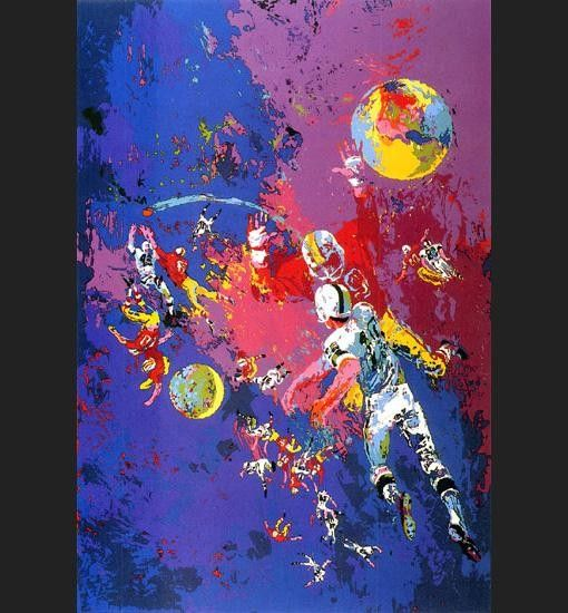 Leroy Neiman Satellite Football