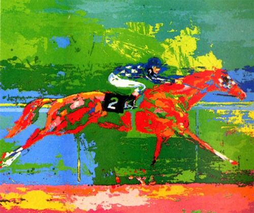 Leroy Neiman Secretariat Big Red