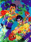 Boxing paintings - Ali Foreman Zaire by Leroy Neiman