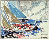 Leroy Neiman America's Cup painting