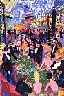 Leroy Neiman Baccarat painting