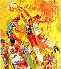Leroy Neiman Basketball Superstars painting