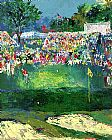 Golf paintings - Bethpage Black Course 2002 u.s. Open by Leroy Neiman