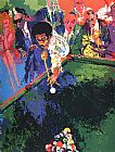 Leroy Neiman Black Break painting