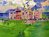Leroy Neiman Clubhouse at Old St. Andrews painting