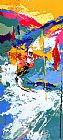 Leroy Neiman Downhill painting