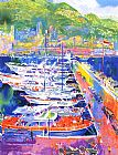 Leroy Neiman Harbor at Monaco painting