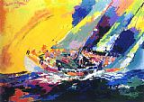 Leroy Neiman Hawaiian Sailing painting