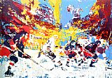 Leroy Neiman Ice Men painting