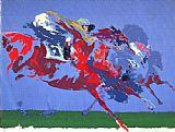 Leroy Neiman In The Stretch painting