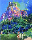 Golf paintings - International Foursome by Leroy Neiman