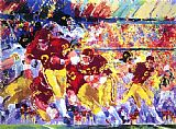 Leroy Neiman Iowa vs. Minnesota painting