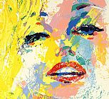 leroy neiman Paintings - Marilyn Monroe