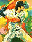 Leroy Neiman Mike Piazza painting