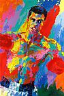 Boxing paintings - Muhammad Ali Athlete of the Century by Leroy Neiman
