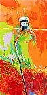 Leroy Neiman Olympic Pole Vaulting painting