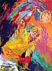 Leroy Neiman Power Serve painting