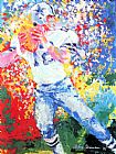 Leroy Neiman Roger Staubach painting