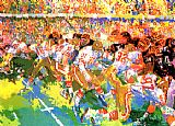 Leroy Neiman Silverdome Superbowl painting