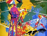 Leroy Neiman Sudden Death painting