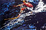 Leroy Neiman Surfer painting