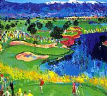 Leroy Neiman The Cove at Vintage painting