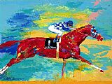Horse Racing paintings - The Great Secretariat by Leroy Neiman