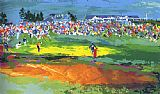 Leroy Neiman The Home Hole at Shinnecock painting