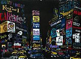 Street paintings - The Lights of Broadway by Leroy Neiman