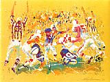 Leroy Neiman Touchdown painting