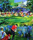Golf paintings - Valhalla PGA 2000 by Leroy Neiman