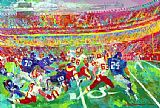 Leroy Neiman Washington Redskins in Fedexfield painting