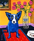 Unknown Artist Absolut Rodrigue painting