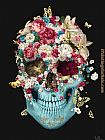 Unknown Artist SKULL FLOWERS painting