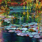 Unknown Artist waterlilies 2015 painting