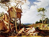 Abraham Bloemaert Landscape with Parable of the Wheat and the Tares painting