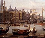 Abraham Jansz Storck A Capriccio Of The Grand Canal, Venice - detail painting