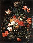 Abraham Mignon Flowers painting
